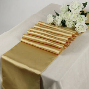"""25pc Wedding 12"""" x 108"""" Satin Table Runner Party banquet Decoration - FREE SHIP"""
