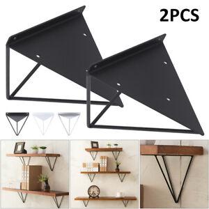 2pcs Hairpin Industrial Wall Floating Shelf Support Bracket Metal Prism Mount UK