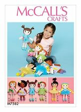 McCalls Crafts SEWING PATTERN M7582 Cloth Doll and Clothes