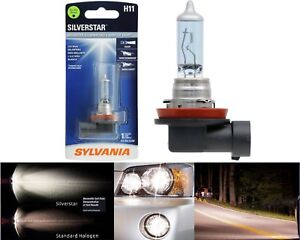 Sylvania Silverstar H11 55W One Bulb Fog Light Replacement Upgrade Lamp OE Fit