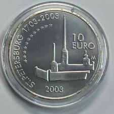 P18-4-14) Finnland 10 Euro 2003 Silber St, 300 Jahre Sankt Petersburg 1703-2003