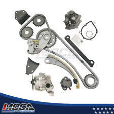 Timing Chain Kit Oil Water Pump Fit 96-03 Chevy Suzuki 1.8 2.0 DOHC J20A J18A