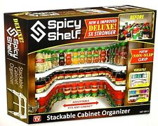 Spicy Shelf Deluxe Stackable Shelf As Seen On TV-Cabinet Organizer - NEW IN BOX