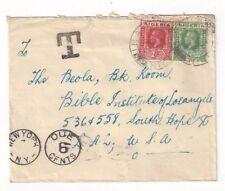 1933 Ibara Nigeria KGV to Los Angeles California, Postage Due