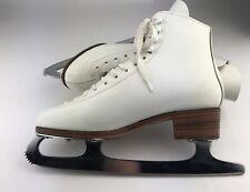 New listing White Leather Ice Skates Sheffield Blade England Size 8 Women's