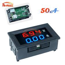 Dc 100v 50a Voltmeter Ammeter Blue Red Led Dual Digital Volt Amp Meter Gauge