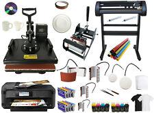 New Listing8in1 Pro Heat Press 28 Metal 500g Vinyl Cutter Plotter 13x19 Large Printer 2inks