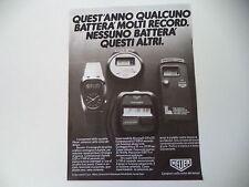 advertising Pubblicità 1981 HEUER MICROSPLIT 221 e 231