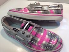 New Girls Sperry Bahama Grey/pink Youth Size - 3.5