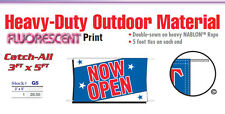 NOW OPEN Banner Sign  grand opening brand new business open house come on in