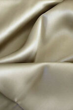 "Luxurious 100% silk charmeuse Flat Top sheet King 108x115"" Taupe"