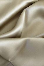 "Luxurious 100% silk charmeuse Flat Top sheet King 108x115"" Taupe"