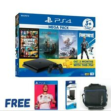 PS4 SLIM 1TB Mega Pack Console with 4 Games (SONY MALAYSIA 15 Months Warranty