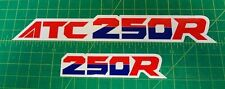 1987 87' ATC 250R 2pc Fender stickers ATV TRX decals logos HRC FREE SHIP