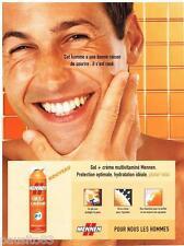 PUBLICITE ADVERTISING 095  2003  MENNEN   soins cosmétiques homme  gel creme