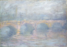 Waterloo Bridge London at Sunset 1904 by Claude Monet 75cm x 53cm Canvas Print