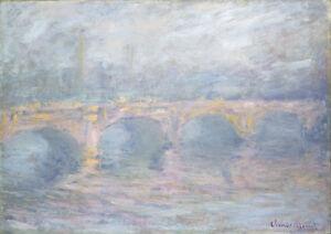 Waterloo Bridge London at Sunset 1904 by Claude Monet 75cm x 53cm Canvas Print