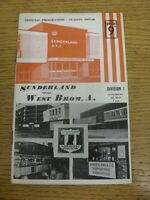 04/05/1968 Sunderland v West Bromwich Albion  (Light Crease, Rusty Staples). Con