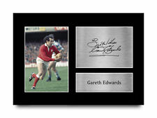More details for gareth edwards wales gift idea signed autograph a4 photo print for rugby fans