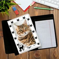Personalised Deluxe Fabric Cat PHOTO Notebook Holder Notepad N10 Office Home