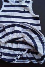 NWT Polo RALPH LAUREN Layette Sailor NAVY & White STRIPE Summer Dress 6M Twins