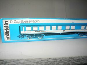 MARKLIN 1:87 VINTAGE PASSENGER EXPRESS TRAIN DINING CAR 4054 MINT BOXED