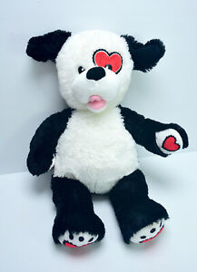 Build a Bear Dog Hearts Patch Washed & Clean Plush Soft Stuffed Toy 46cm 2011