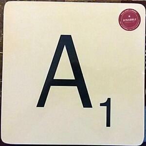 """4 Wild & Wolf Scrabble Table Placemats Letter Cork Backed Masonite 9"""" x 9"""""""