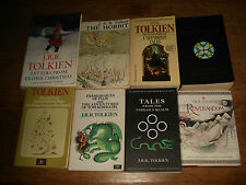 8 X J.R.R.TOLKIEN BOOKS,INC,THE HOBBIT,SILMARILLION,UNFINISHED TALES & OTHERS