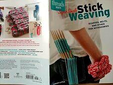 Super Simple Stick Weaving, KNITTING PATTERNS Booklet, Scarves, Belts, Necklaces