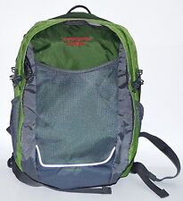 Lands End School Backpack Travel Bag Green With Grey Mesh Extreamely Nice !