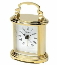 Brass Desk, Mantel & Carriage Clocks with 12 Hour Display