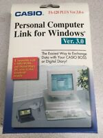 Casio Personal Computer Link for Windows FA-128 PLUS Ver 3.0 Digital Diary BOSS