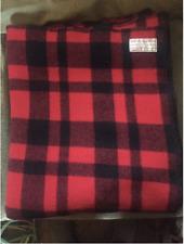 """FILSON Mackinaw Wool 90""""L X 72""""W Blanket Red/Black Pattern Flannel garment"""