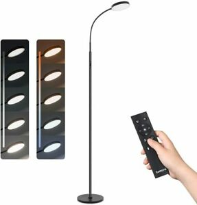 Modern Dimmable Led Floor Lamp 360° Rotation Adjustable For Living Room Bedroom
