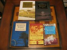 5-Nicholas Sparks-The Choice-Nights in Rodanthe-Lucky One-Wedding-Notebook-Lot