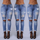 WOMEN GIRLS HIGH WAISTED STRETCHY SKINNY JEANS LADIES JEGGINGS PANTS TROUSERS