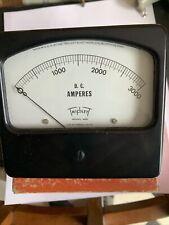 Vintage Triplett Model 420 Dc Amperes Large Panel Meter Gauge 0 3000 Amps