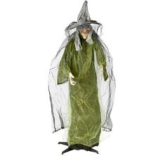 Halloween Lifesize Animated LED Standing Witch w/ Sound