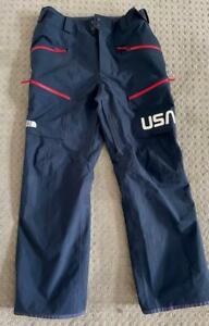 NWT Northface Mens Large TEAM USA Ski Pants w/ Dry Vent Navy Blue