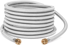GASPRO 20FT Braided Stainless Propane Hose Assembly with Both 3/8″ Female Flare