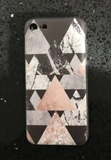 Black & Rose Gold Geometric Print Silicone Gel Case For iPhone 7 Or 8. Xmas,gift
