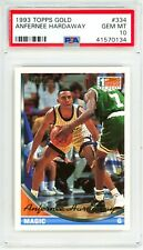1993 Topps GOLD #334 ANFERNEE HARDAWAY Rookie Card RC Perfect PSA 10 and POP 10