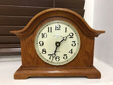 vintage/wooden carriage/mantel clock working nicely-USA movement