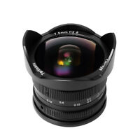 7artisans 7.5mm F2.8 Fisheye lens For Fuji Camera X-T2 X-T10 X-E1 X-E2 (Black)