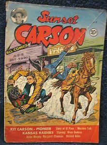 SUNSET CARSON #2 (1951) - Early Charlton Western Movie Comic w/ Audie Murphy