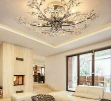 Crystal Ceiling Lights Fixtures Modern Flower Decorative Indoor LED E14 Lighting