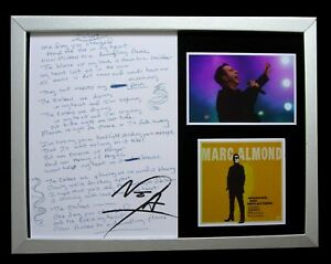 MARC ALMOND+SOFT CELL+SIGNED+FRAMED+SHADOWS+LOVE=100% AUTHENTIC+FAST GLOBAL SHIP