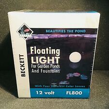 Beckett Floating Light for Ponds & Fountains, 20W, Color Lenses (FL800) USA