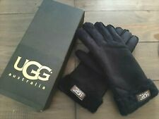 NEW Boxed Authentic Black UGG Australia Women's Turn Cuff Gloves Small £125 RRP